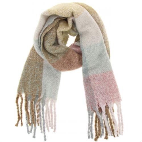 Echarpe femme épais laine à frange, CELIA