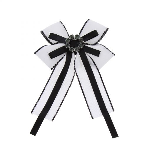 Broche, cravate femme, Noeud de papillon en Ruban strass ECE