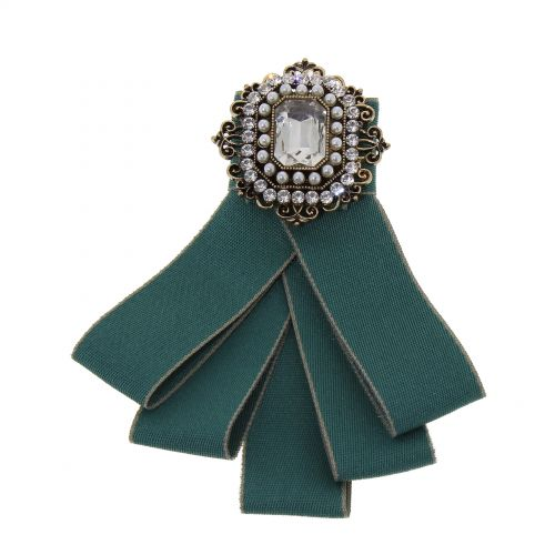 Rhinestone Crystal Dangle Wedding Party Bow Tie Ribbon Pre Tied RANIA