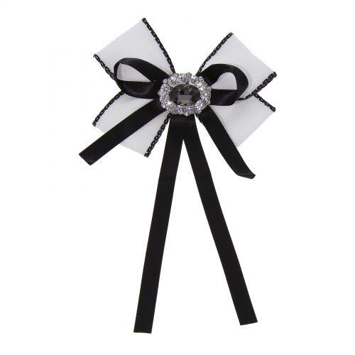 Rhinestone Crystal Dangle Wedding Party Bow Tie Ribbon Pre Tied TALY