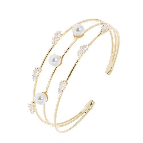 Bracelet pearl rhinestone zirconium crystal FLORINA
