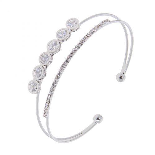 Bracelet rhinestone zirconium crystal LAORA