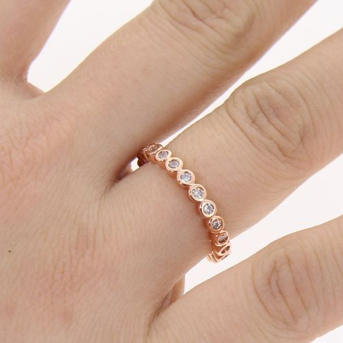 zirconium rhinestone Copper ring golden with gold, WELINA