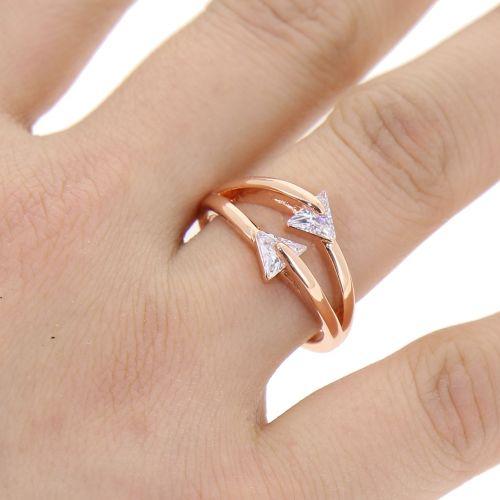 zirconium rhinestone Copper ring golden with gold, GABIE