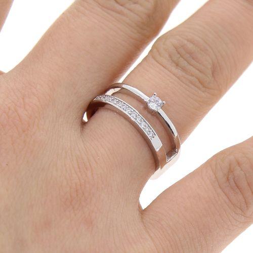 anello Zirconiumm 1 micron oro placcato, 8499 nero