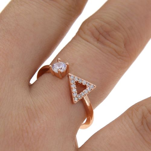 zirconium crystal copper woman ring, SIDONIE