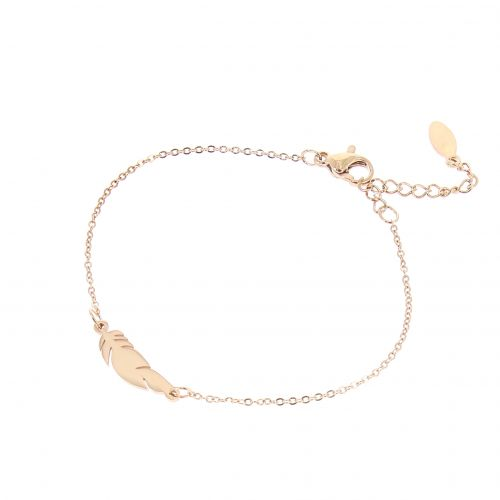 Feather stainless steel bracelet, MARGO