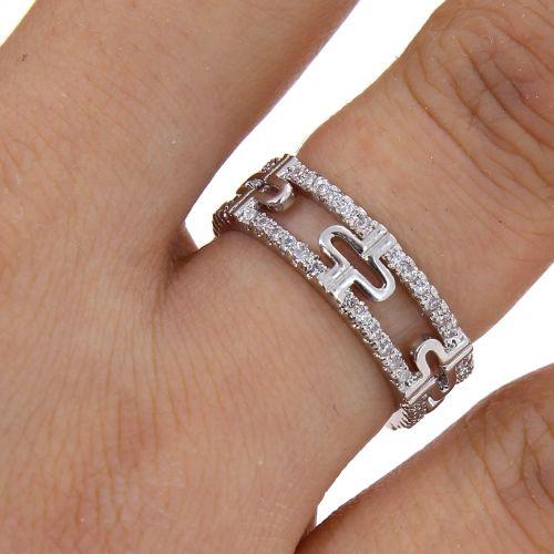 Copper Ring zirconium crystal golden with gold, ELARA