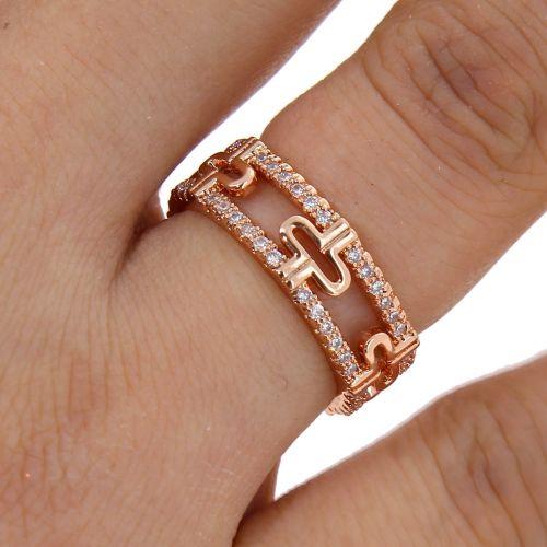 zirconium rhinestone Copper ring golden with gold, ELARA