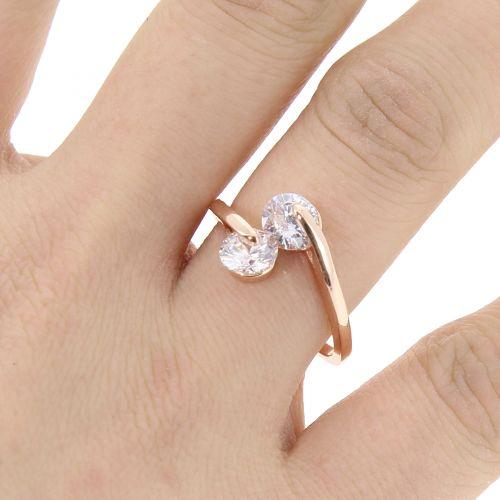 zirconium rhinestone Copper ring golden with gold, EYLINE