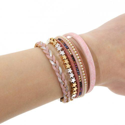 Bracelet manchette multirangs EILEEN