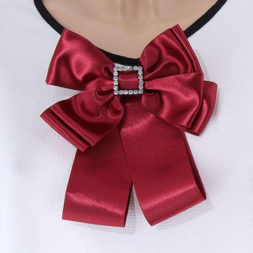 Broche, cravate Ruban femme, strass LYNA