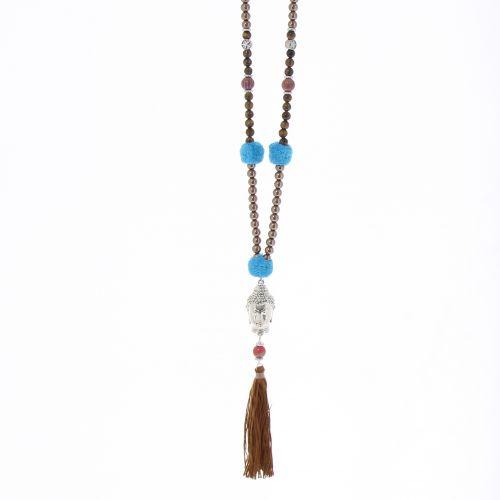 """Long necklace 80 cm """"Buddha head"""" LYA"""