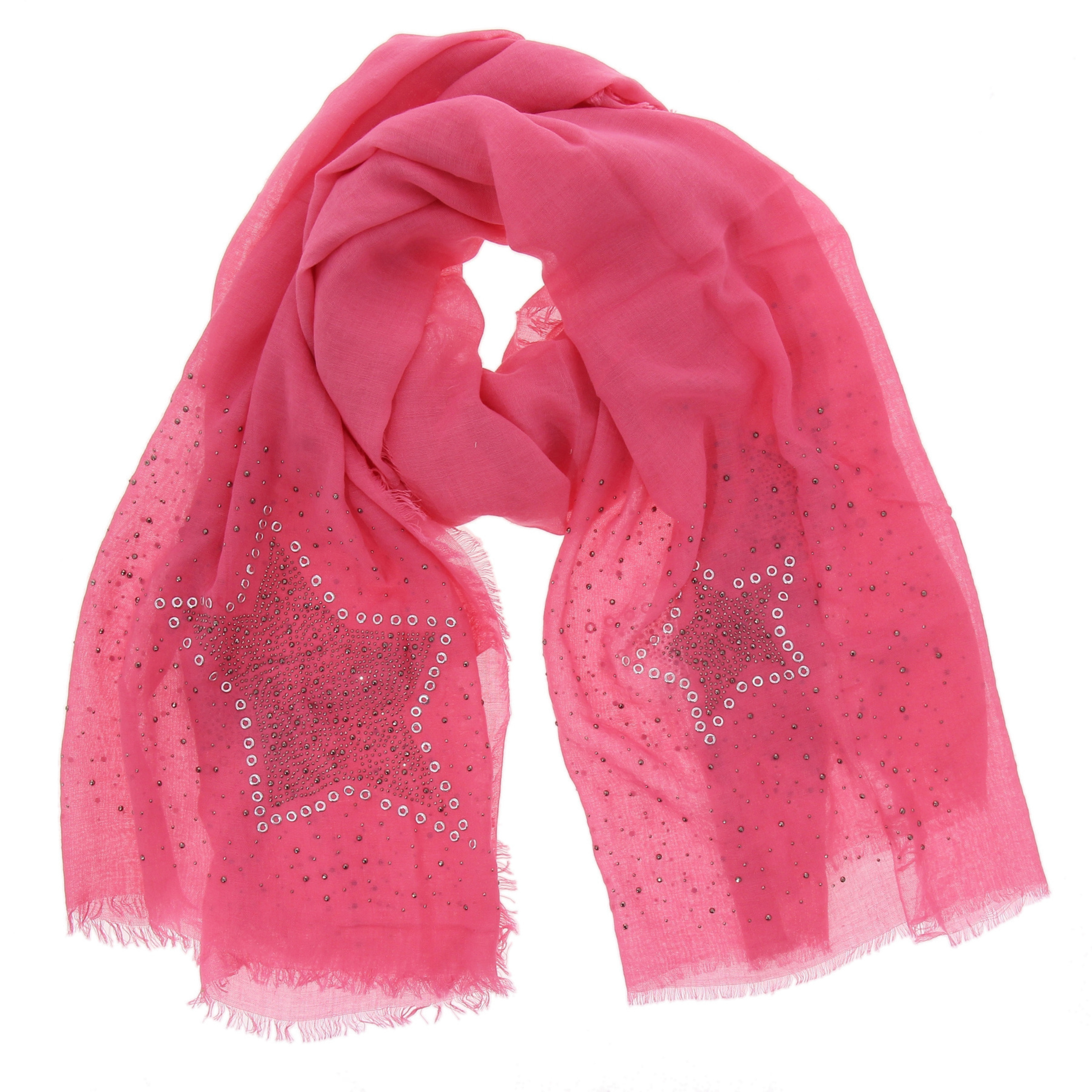 Echarpe femme toucher coton oversize étoile NUARA 2eb98ad9937