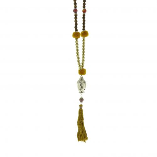 "Long necklace 80 cm ""Buddha head"" LYA"