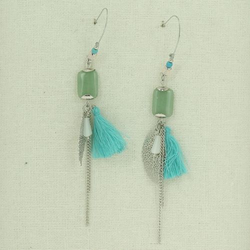 Tassel, Stone, drop, dangling woman Earring DAYMON