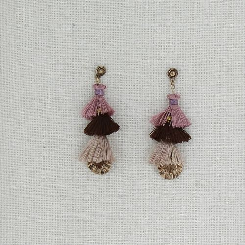 Tassel, drop, dangling woman Earring ZAFIRO