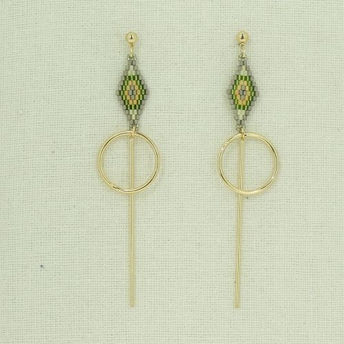 Long dangle earring ELIZABETH