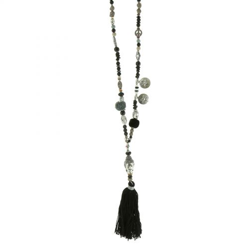 "Long necklace 80 cm ""Buddha head"" MARGOT"