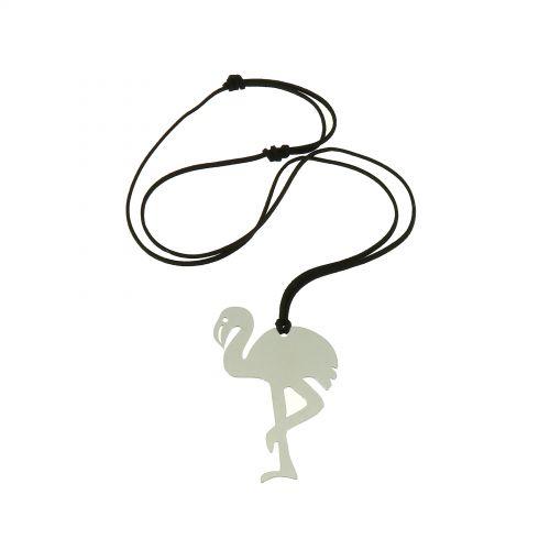 Heart Leather long necklace, LAULIA