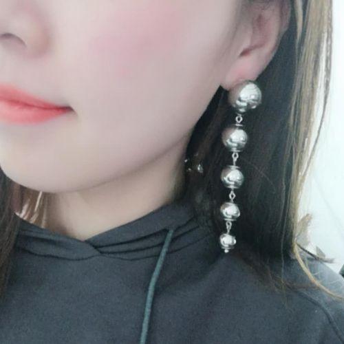 Boucles d'oreilles pendantes longues FUSBERTA