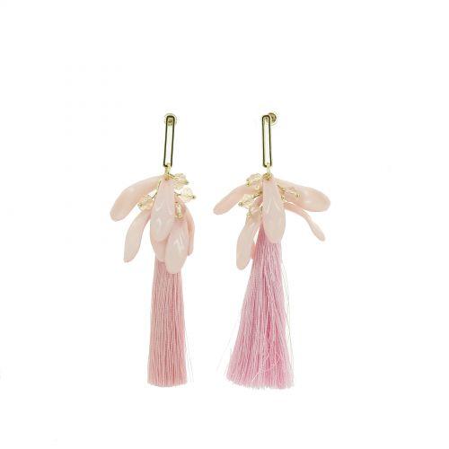 Boucles d'oreilles pendantes pompons à franges, OLIVIA