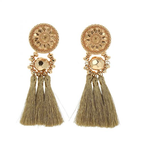 Hanging fringed tassel earrings, MELINA