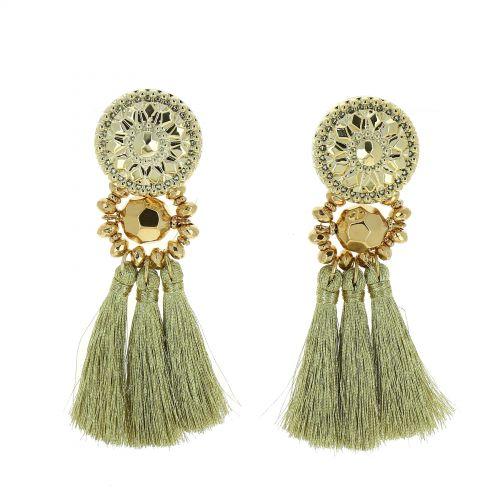 Hanging fringed tassel earrings, MELINA