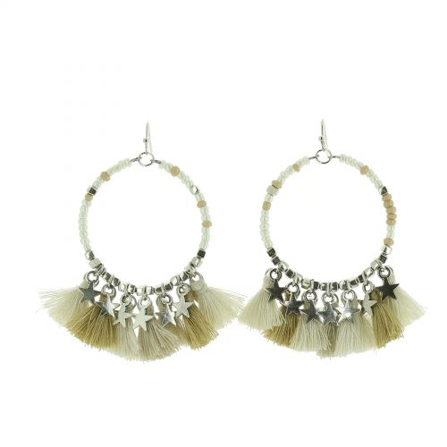 Hanging fringed tassel earrings, MYHA