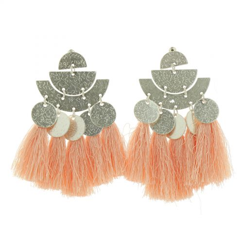 Hanging fringed tassel earrings, ELISA