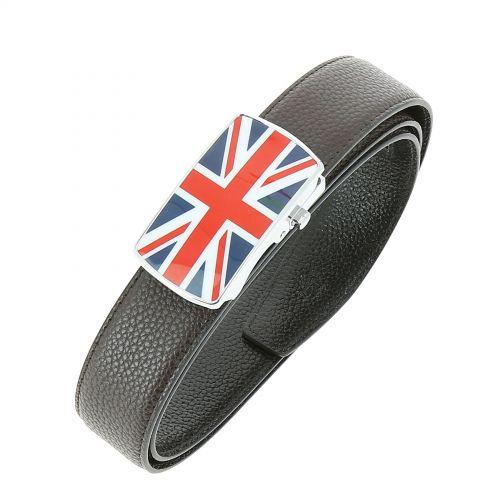 Ceinture cuir doublé cuir pour homme, drapeau anglais LUIS