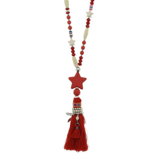 Beaded necklace, crystal