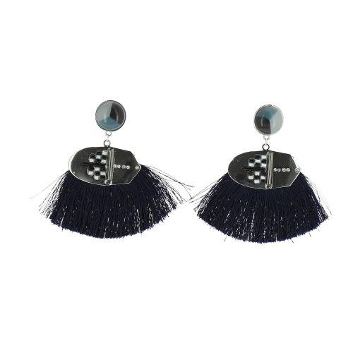 Hanging tassel earring, GEORGETTE