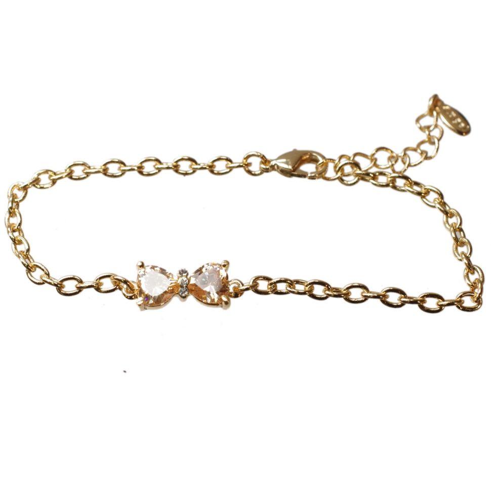 Bracelet noeud papillon, strass SZM-015B Doré - 1928-5225