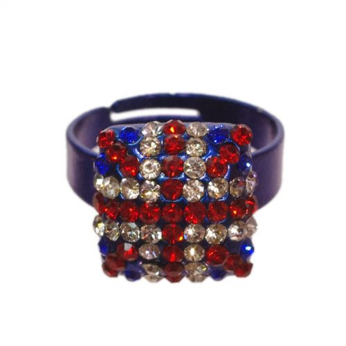 English flag fashion ring