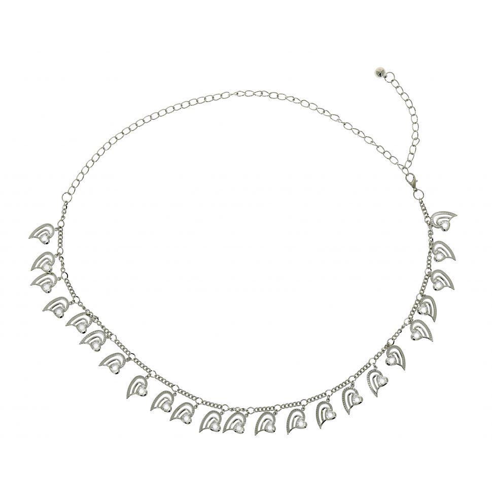 638ded42f030 Ceinture chaîne à coeur pour femme PAOLINI
