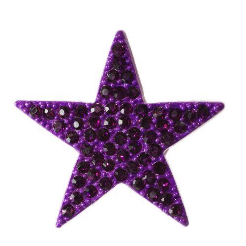 Bague métal étoile XL, BA16 Violet - 1422-5232