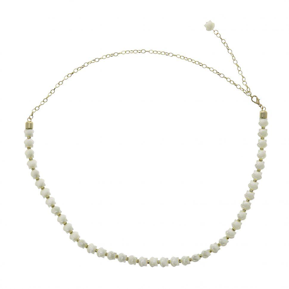 Ceinture chaîne coquillage plaqtique pour femme ROSETTA. Loading zoom 1a9188d0458