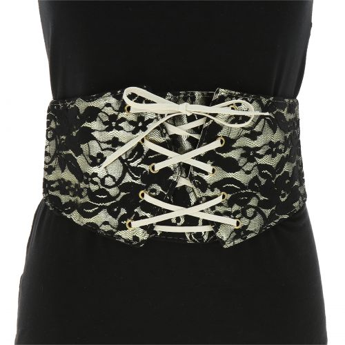 Lace Wide Waist Elasticated Woman Corset Belt, AUGUSTINE