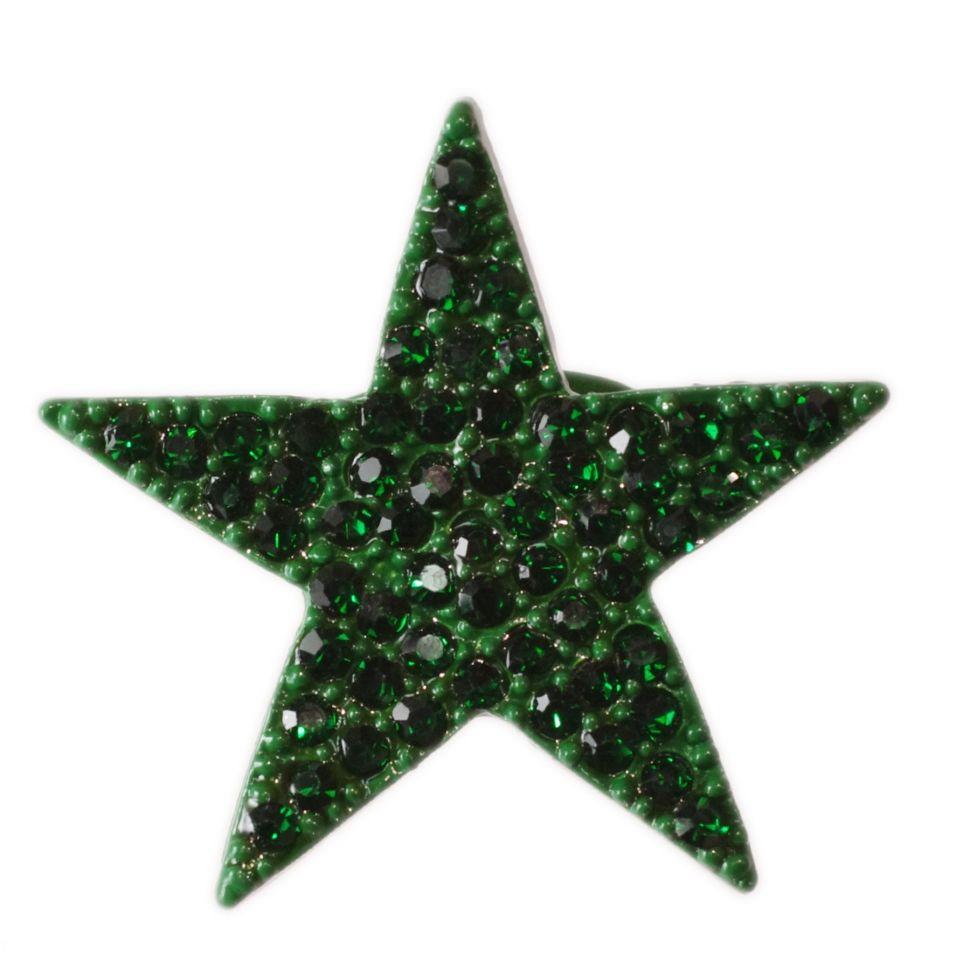 Bague métal étoile XL, BA16 Vert pin - 1422-5239