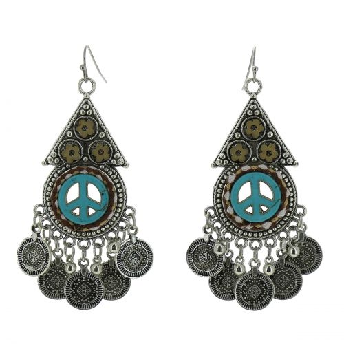 Long dangle earrings, RICO