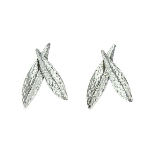 Boucles d'oreilles femme à feuilles, MARICELA