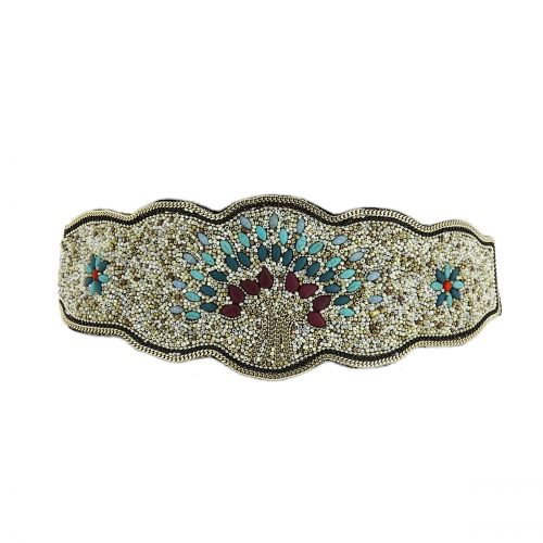 Women'S Fashion Lady Tree Of Life Handmade Mosaic Wide Belt, LUCILE