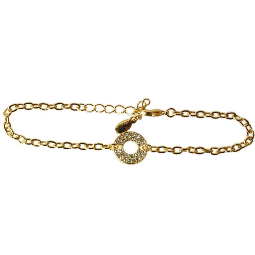 Bracelet rondelle strass SZM-014B Doré - 1921-5269