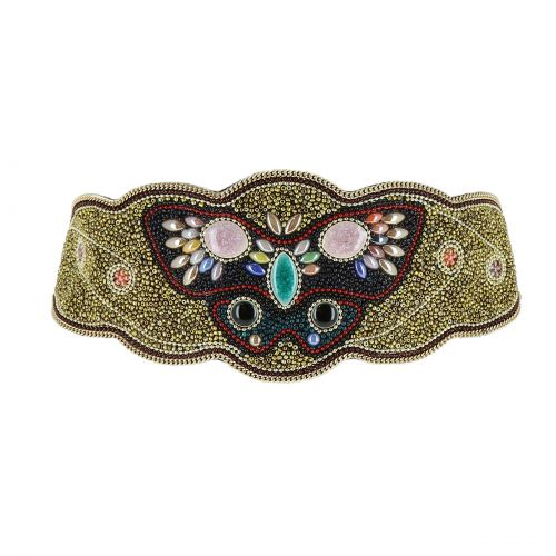 Women'S Fashion Lady Handmade Mosaic Wide Belt, BERNICE