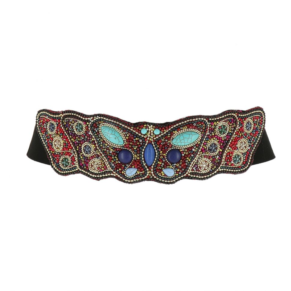 Women'S Fashion Lady Handmade Mosaic Wide Belt, SHIRLEE