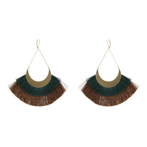 Tassel hanging dangle earring, ANDREA