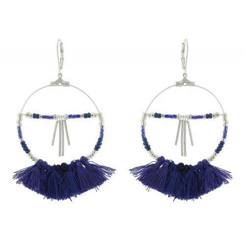 Tassel hanging dangle earring, HELEN