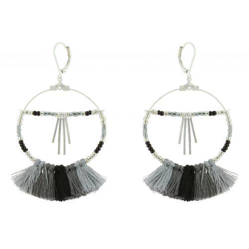 Tassel hanging dangle earring, HELEN
