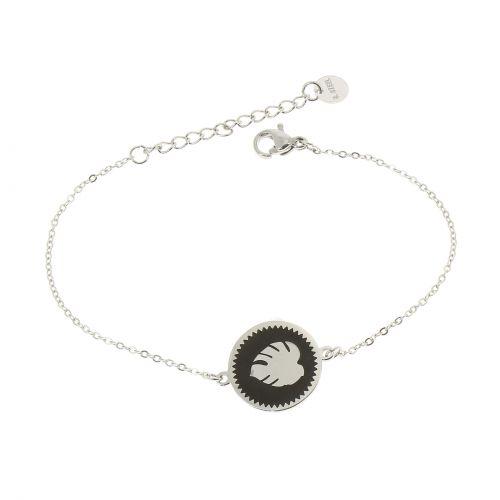 Bracelet femme Feuille acier inoxydable adjustable, FLORENCE